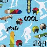 COOL GUYS Popeline Skater hellblau