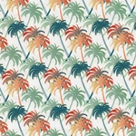 TROPIC PALM Popeline Palmen beige