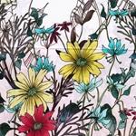 KIMDO FLOWERS Webware Bordüre Blumen