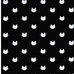 MEOW - KITTY DOTS Jersey schwarz weiß