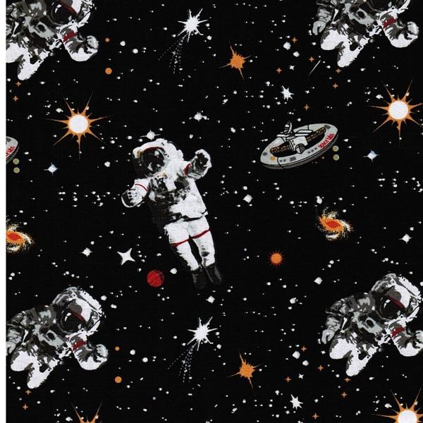 SPACEWALK Webstoff Astronauten schwarz