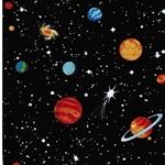SPACEWALK Webstoff Weltall schwarz