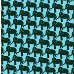 ELEPHANT PARADE by Jolijou Jersey  aqua