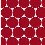 DORO Popeline Dots weiß rot