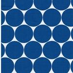 DORO Popeline Dots weiß blau