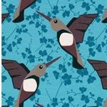 HUMMINGBIRD Sweat Kolibris hellpetrol