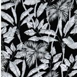 YVONNE Viskose Blätter schwarz weiß