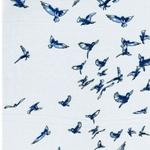 YVONNE Viskose Kolibris mint