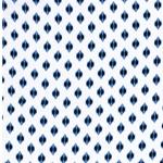 YVONNE Viskose Muster weiß blau