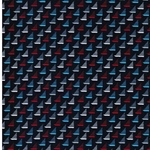 MINI PRINTS Webware Segelboote navy