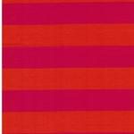 ISA Baumwolljersey Streifen orange pink