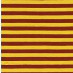 ISA Baumwolljersey Streifen gelb braun
