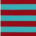 ISA Baumwolljersey Streifen mint rot