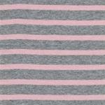 Viskose-Feinstrick Lurex rosa silbergrau