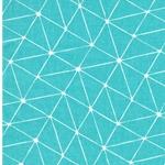LUNA Wachstuch grafisches Muster mint
