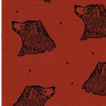 CURIOUS BEAR organic Jersey rust