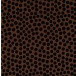 AFRIKA gew. Baumwolle Dots schwarz braun