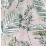 BORNEO Canvas Blätter hellgrau grün petr