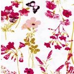SELINA Viskosejersey Blumen weiß