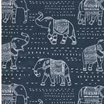 PREMIER PRINTS Twill Elefanten blau