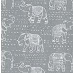 PREMIER PRINTS Twill Elefanten grau