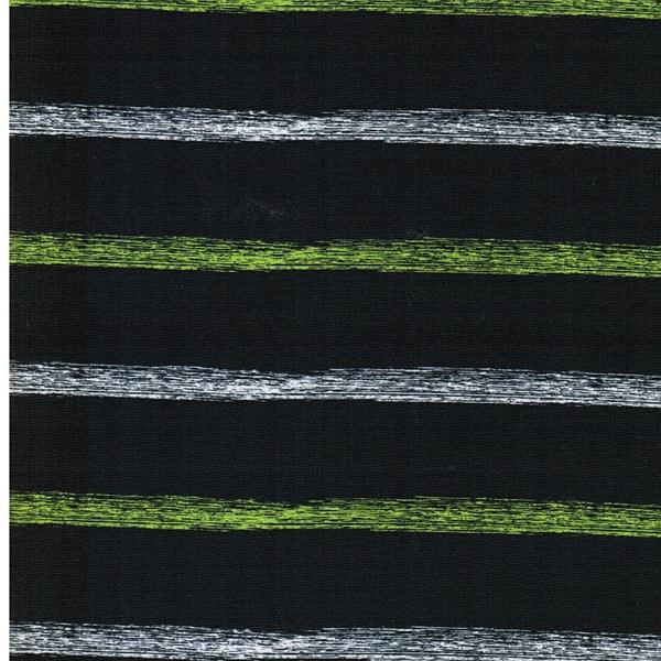 FOOTBALL STRIPES Popeline grau grün