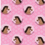 HORSE PATCHES Jersey rosa