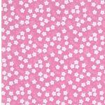 FLOWERS Popeline Blümchen rosa