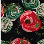 PARADIS WOODLANDS Rayon Blumen nachtblau