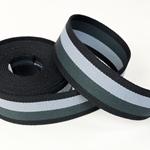 Gurtband 40 mm grau anthrazit schwarz