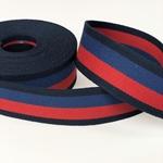 Gurtband 40 mm marine rot dunkelblau
