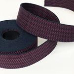 Gurtband 40 mm weinrot navy