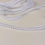Pomponborte klein weiß
