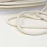 breite Kordel 8 mm weiß