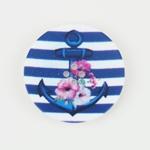 Knopf Anker 4-Loch 23 mm blau