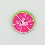 2-Loch-Knopf 25 mm MELONE pink