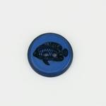 2-Loch-Knopf 23 mm FISCH blau