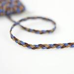 Lederimitatband geflochten blau braun