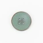 Metallknopf Shabby 4-Loch 20 mm grün