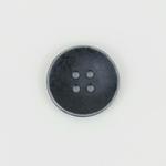 Metallknopf Shabby 4-Loch 20 mm schwarz