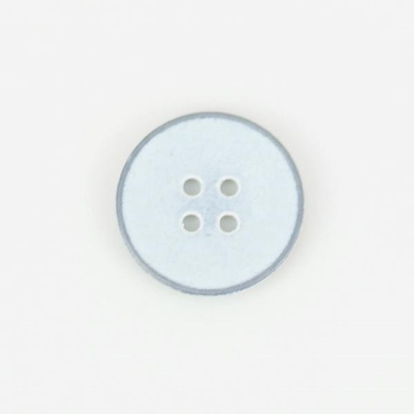 Metallknopf Shabby 4-Loch 20 mm hellgrau