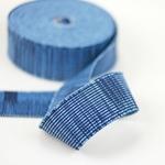 Gummiband 40 mm blau meliert