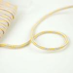 Kordel dreifarbig 4 mm gelb beige