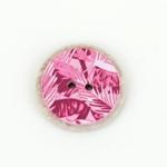 Polyesterknopf 25 mm 2-Loch Palme rosa