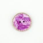 Polyesterknopf 25 mm 2-Loch Palme violet