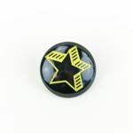 Polyesterknopf mit Öse Stern schwarz