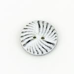 Polyesterknopf 23 mm 2-Loch Muster weiß