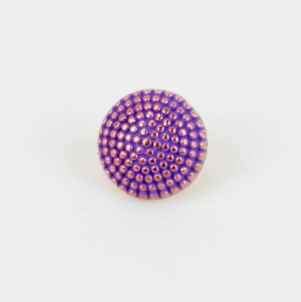 Metallknopf mit Öse 10 mm kupfer lila