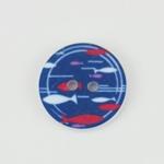 2-Loch-Knopf 20 mm Fische blau