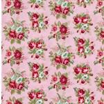 EMILIE Popeline Blumenbouquet rosa